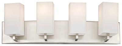 Forecast Lighting F451736 Avenue 4 Light Bath, Satin Nickel