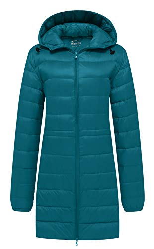 Wantdo Women's Warm Parka Down Coat Wind Block Autumn Jacket Dark Blue L