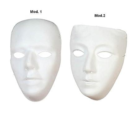 Mascara de Teatro Blanca en PVC