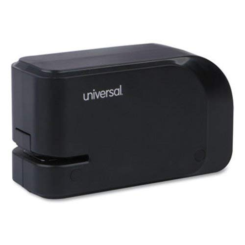 (Universal 43120 Electric Half-Strip Stapler w/Staple Channel Release, 20-Sheet Capacity, Black )