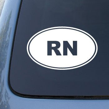 Rn nurse vinyl car decal sticker 1550 vinyl color white