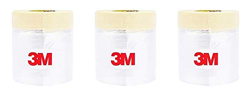 3M Drape Pre-Taped Masking Film, Painting Protection Covering Film (65.6 Feet) (Set of 3 (15.7 ()