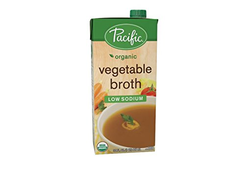 Pacific Foods Organic Low-Sodium Vegetable Broth, 32-Ounces