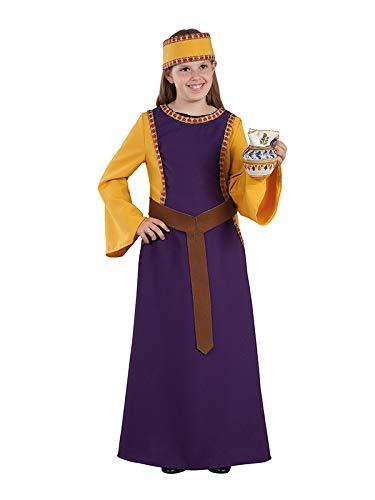 DISBACANAL Disfraz Dama Medieval Jimena para niña - Único, 8 años ...