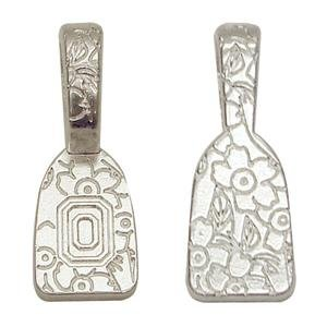 Find-Its - Findings For Fused 24-Piece Floral Print Bails, Silver ()