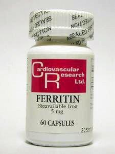 Ecological Formulas - Ferritin Fe 5 mg 60 caps [Health and Beauty]