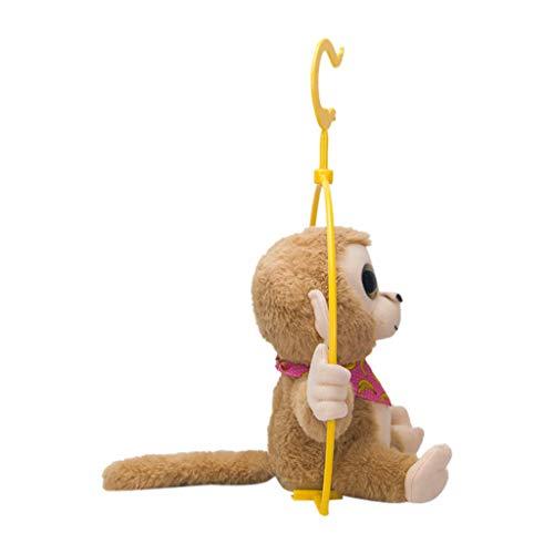 NOMENI Cute Mimicry Pet Talking Monkey Plush Stuffed Animal Toys,Repeats What You Say Electronic Interactive Plush -