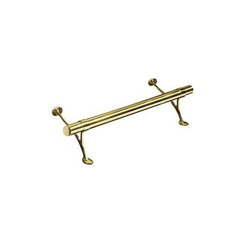 2' Cap Railing (BuyRailings LB-00-FR1002/2 Solid Brass Bar Foot Rail Kit - 2 Feet)