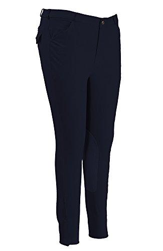 (TuffRider Men's Patrol Knee Patch Breeches (Long), Navy, 46 )