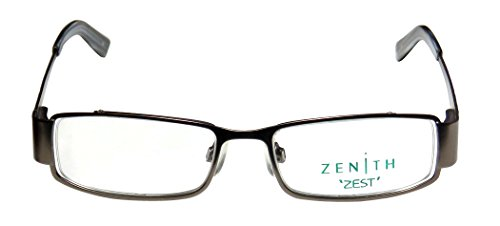 continental-eyewear-zenith-57-mens-womens-designer-full-rim-eyeglasses-spectacles-48-16-135-gunmetal