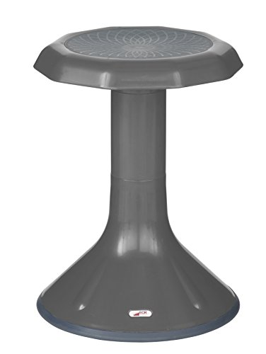 ECR4Kids ACE Active Core Engagement Stool for Kids, 18-Inch H, Grey