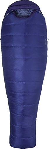 Marmot Ouray Sleeping Bag: 0 Degree Down - Women's Electric Purple/Royal Grape, Reg/Left Zip