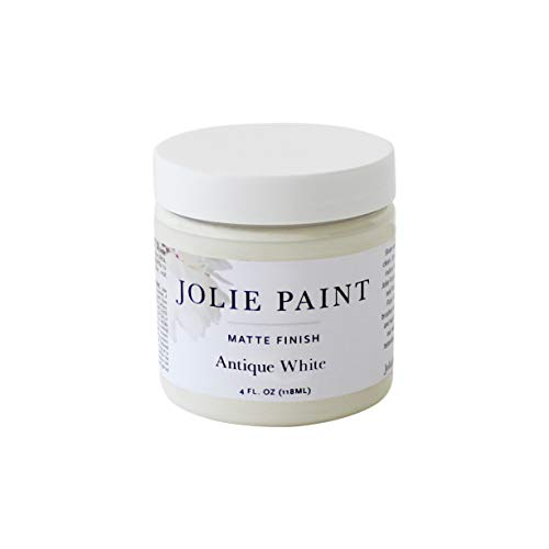 Jolie Paint - Matte Finish Paint for Furniture, cabinets, Floors, Walls, Home Decor and Accessories - Water-Based, Non-Toxic - Antique White - 4 oz (Sample Size)