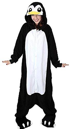 Women's Sleepwear Unisex Adult Child Anime One-Piece Pajamas Penguin Onesie Homewear Cosplay (Size M for 62-66