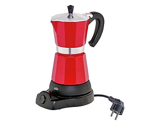 Cilio Classico - Cafetera eléctrica de Estilo Italiano (6 Tazas), Color Rojo