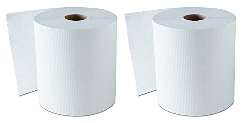 GEN 1820 Hardwound Roll Towels, White, 8'' x 800 ft (Case of 6) (2-(Case of 6))