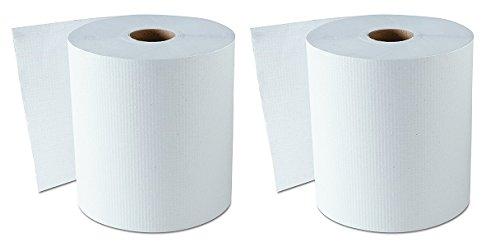 GEN 1820 Hardwound Roll Towels, White, 8'' x 800 ft (Case of 6) (2-(Case of 6)) by GEN (Image #1)