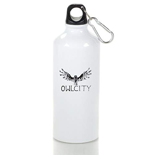 Wenlitee Owl City Aluminum Outdoor Sports Bottle Mountaineering Kettle White M