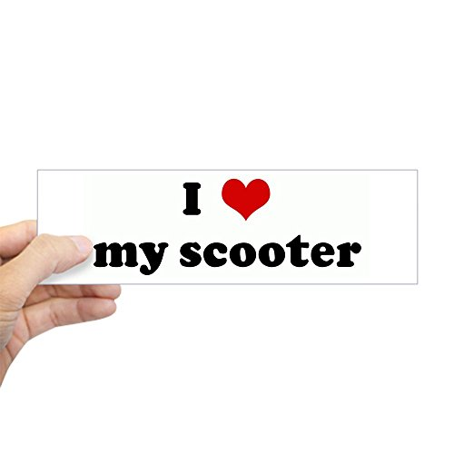 CafePress I Love My Scooter Bumper Sticker 10