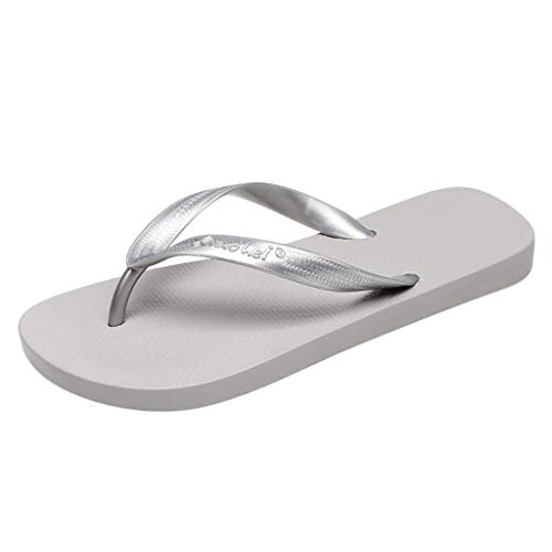 - Respctful✿Women Beach Summer Casual Flip Flop Sandals Non Slip Lightweight Beach Sandal for Outdoor Indoor Shoe Gray