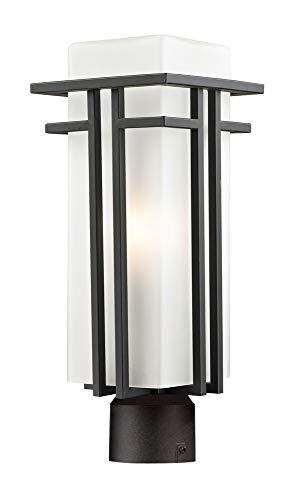 Abbey Post Lantern - Z-Lite 550PHM-ORBZ-R Outdoor Post Light with Aluminum Frame, Matte Opal