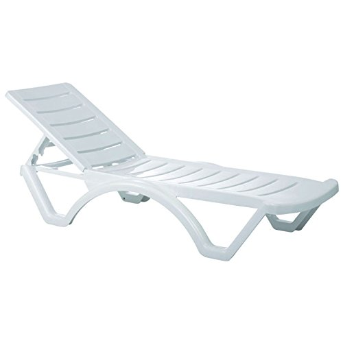Cheap Compamia Aqua Pool Chaise Lounge in White – Set of 4