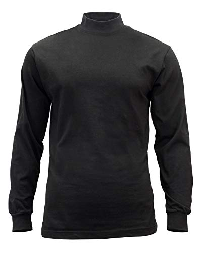 (Rothco Mock Turtleneck Shirt, Black, X-Large)