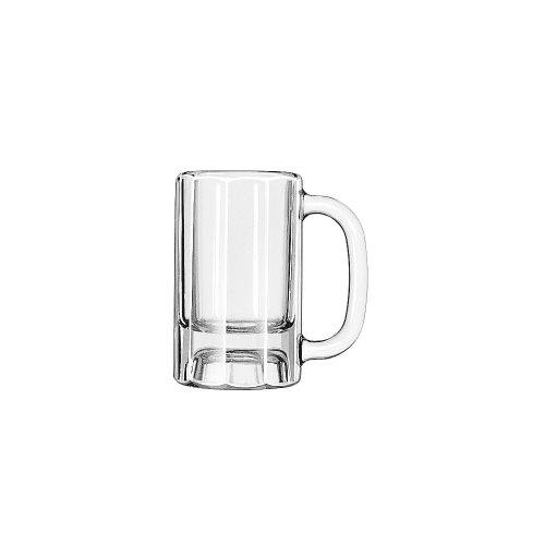 LIB5019 - Libbey Glass Mugs amp;amp; Tankards, Paneled Mug, 10oz, 5 3/8amp;quot; Tall