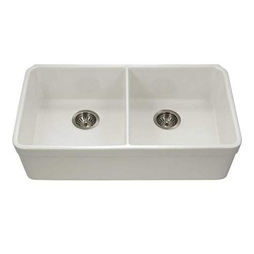 Houzer PTU-3200 BQ Fireclay Kitchen Sink, Biscuit