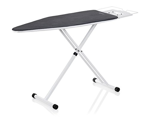 Reliable 100IB Oversized Ironing Board 19in. x 60in.(47 in. Pressing Surface), 7 Height Adjustments, Tube Frame Construction, Strong Support For Iron Rest, Latch Hook Locking System - Made in Italy