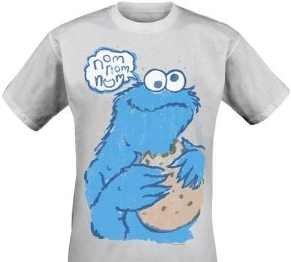 Sesamstrasse T-Shirt Nom Nom Cookie Monster Krümelmonster in Größe S ... 2de5920226