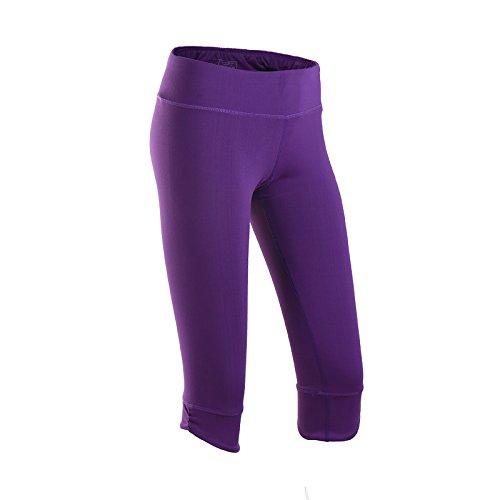 MAYUAN520 Frauen, die Yoga Fest Candy Farben Breiten Taille Schlüsseltasche Elastische Skins 3/4 Legging Unten Sport Fitness