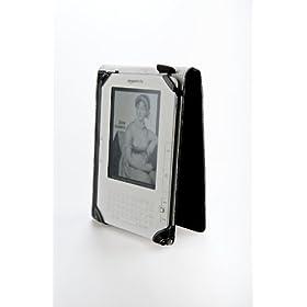 """M-Edge Platform Genuine Leather Kindle Jacket (Fits 6"""" Display, Latest Generation Kindle), Pebbled Purple"""