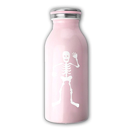 Disney Halloween Skeleton Dance (HEHE TAN White Halloween Skeletons Dance Vacuum Vacuum Stainless Steel Mini Travel Milk Bottle)