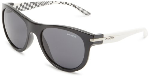 White Arnette Sunglasses - Arnette Men's Blowout Sunglasses,Black and White Frame/Grey Lens,one size