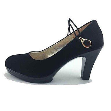 formelles Chaussures Femme black à formelles Confort Elastique Chaussures LvYuan Chaussures Printemps ggx Gros Talons Habillé Talon Tissu Confort Automne qCEwH65
