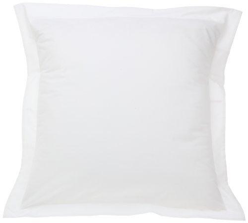 Fresh Ideas European Tailored Poplin Pillow Sham, White