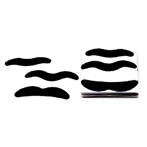 Self Adhesive Stick On Fake Mustache Moustache Stylish Costume Fancy Party 24pcs by unbrand