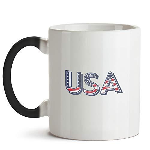 Patriotic Usa Flag Star July 4Th Patriotic 2 11 Oz Color Changing Coffee Mugs
