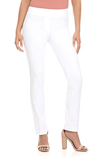 Rekucci Women's Ease in to Comfort Straight Leg Pant with Tummy Control (Button Fly Straight Leg Pants)