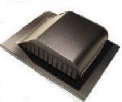 Lomanco 750BR 8 inch Brown Aluminum Roof Louver