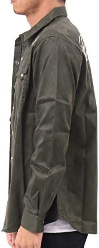 シャツ 長袖 ポリスウェード ウエスタン 193G1500