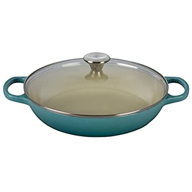 Le Creuset of America Enameled Cast Iron Buffet Casserole with Glass Lid, 3 1/2 quart, Caribbean