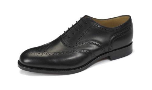 LOAKE Rahmengenähte Leder schwarz Goodyear Welted Oxford Full Severn2 Budapester Brogue Schuhe rIqwrntT