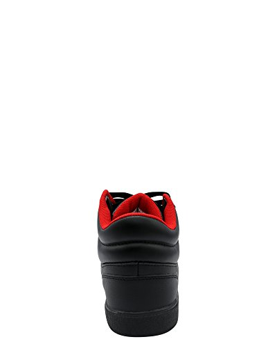 Sean John Mens Rainero Mid Sneaker Nero / Rosso
