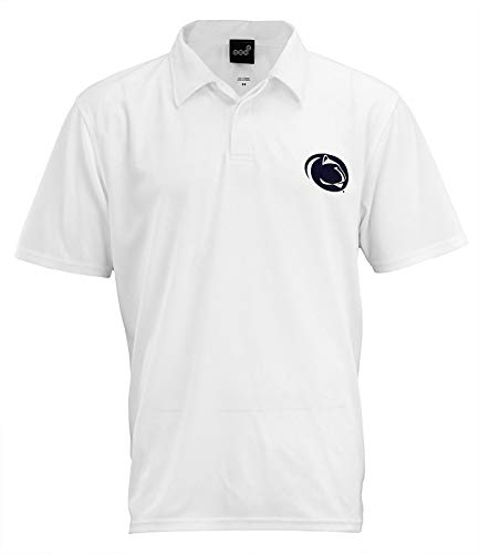 Outerstuff Penn State Nittany Lions NCAA Mens Short Sleeve Performance Polo, White X-Large