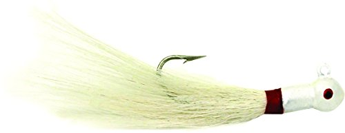 Sea Striker PE34W6 Popeye Bucktail Jigs, 3/4-Ounce, 7/0 Hook, White, 6-Pack - Popeye Jig