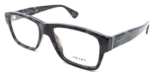 Prada Rx Eyeglasses Frames Vpr 17S Uel-1o1 53x17 Grey Tortoise Made in - Prada Wayfarer Eyeglasses