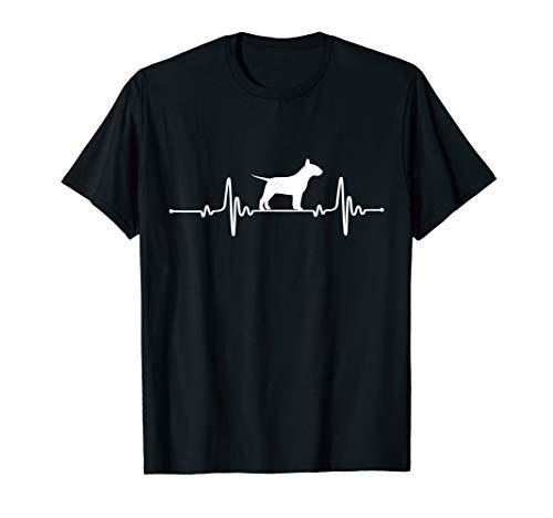 Bull Terrier Heartbeat Dog Lover - Bull T-shirt Black Terrier