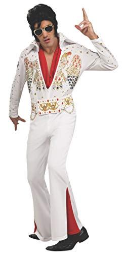 Rubies Deluxe Aloha Elvis Costume, White, Extra-Large